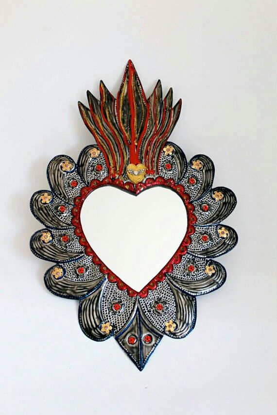44 best nichos images on pinterest mexican folk art for Gilded heart tattoo