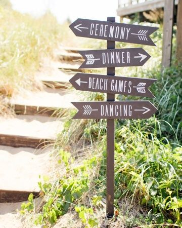 Camp Signs for summer camp themed wedding