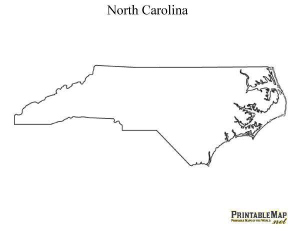 Printable Map of North Carolina - State Map of North Carolina