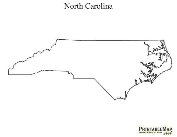 Printable Map of North Carolina - State Map of North Carolina