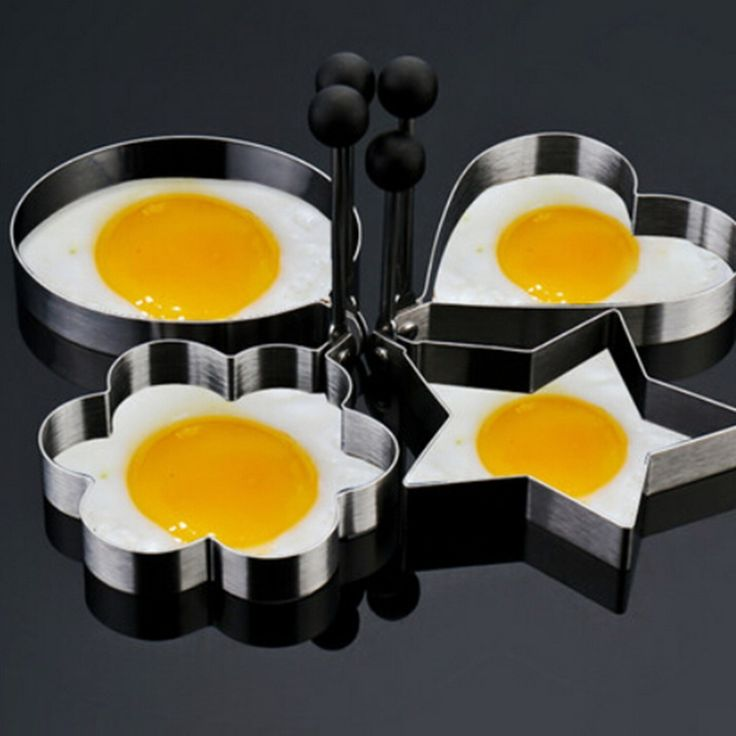 2Pcs Stainless Steel Egg Mold #kitchen #home http://kgspot.com/index.php/product/2pcs-stainless-steel-egg-mold/