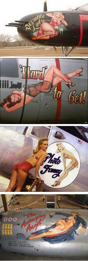 Aircraft Nose Art. TELL YOUR FRIENDS that we'd love to see them at our aviation themed restaurant, The Left Seat West, in Glendale, Arizona!! Check out our décor at: http://www.facebook.com/pages/Left-Seat-West-Restaurant/192309664138462