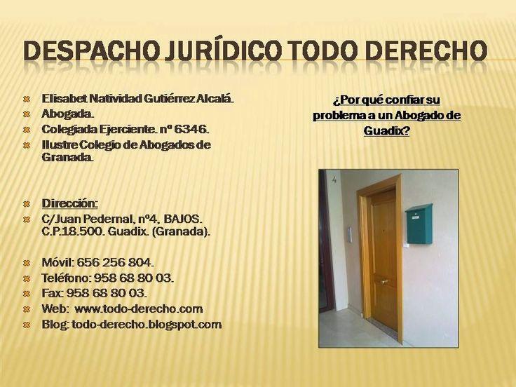 TODO-DERECHO DESPACHO JURÍDICO: LOS ABOGADOS DE GUADIX DEL ILUSTRE COLEGIO DE ABOG...
