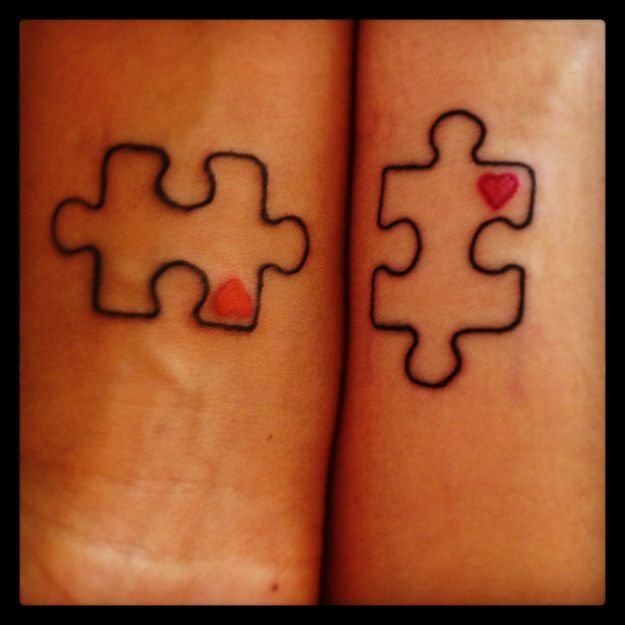 25 best ideas about puzzle piece tattoos on pinterest husband wife tattoos key tattoo. Black Bedroom Furniture Sets. Home Design Ideas