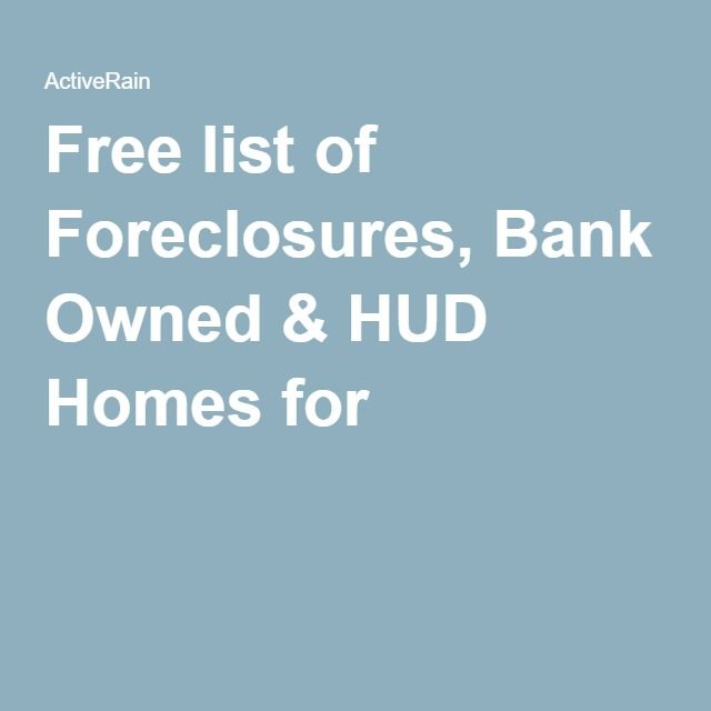 Free Listing Hud Homes For Sale