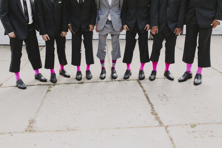 Pink Trouser Socks for the Groom & Groomsmen  