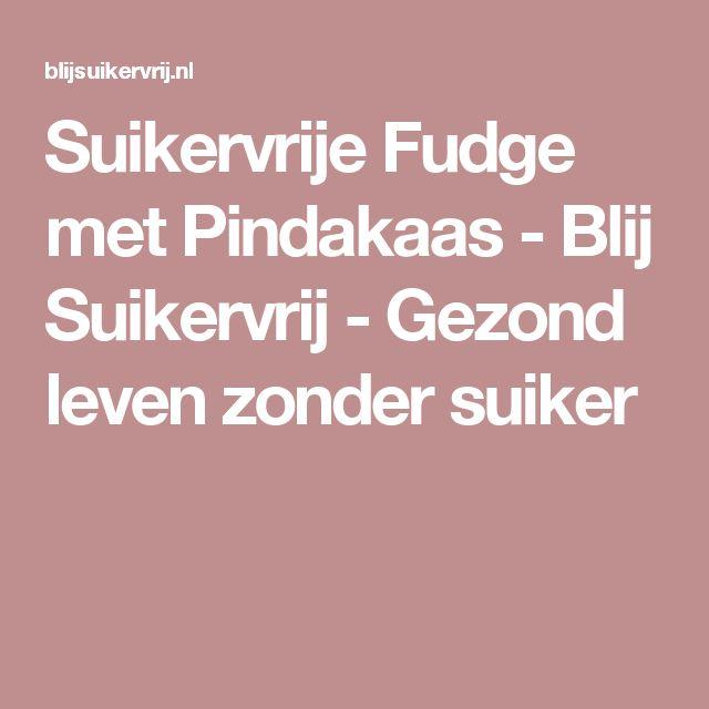 Suikervrije Fudge met Pindakaas - Blij Suikervrij - Gezond leven zonder suiker