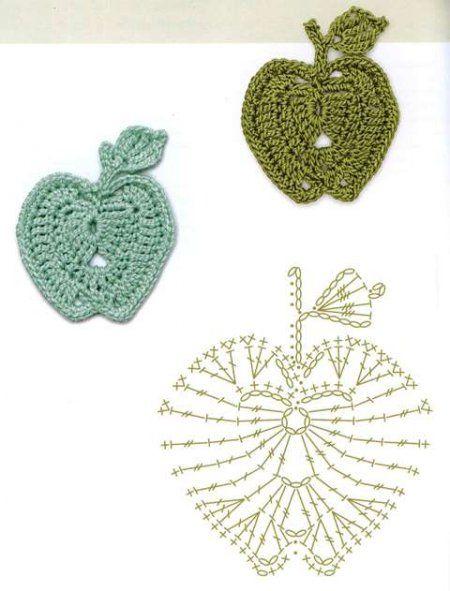 Motives for crochet appliqués