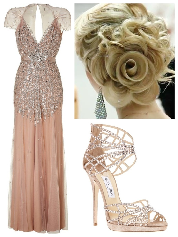 Pink formal gown, Jenny Packman and jimmy choo
