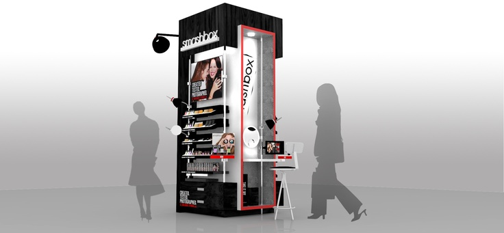 smashbox cosmetics - display