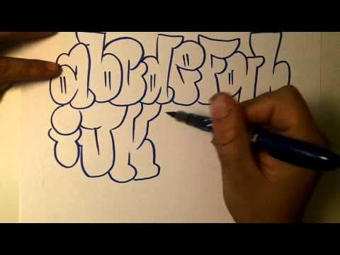 how2art how to draw graffiti alphabet throwies - YouTube