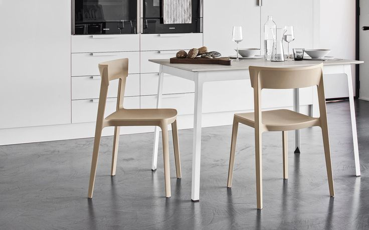 SKIN chair stackable up to six chairs high - Calligaris CS/1391-A