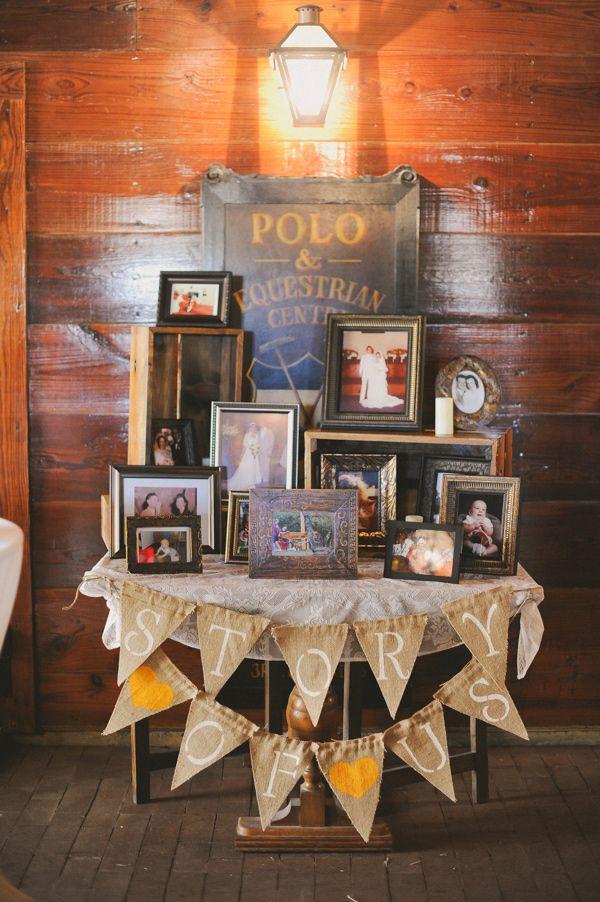 table of family wedding portraits // photo by June Bug Co. // http://ruffledblog.com/autumnal-texas-wedding
