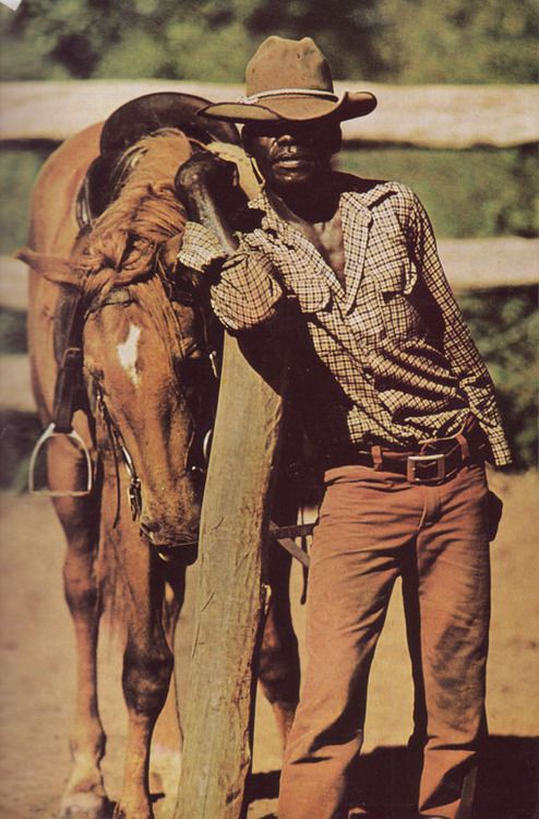 Aboriginal stockman, as featured in the February issue of National Geographic magazine, Australia, 1973, photograph by Thomas Nebbia.