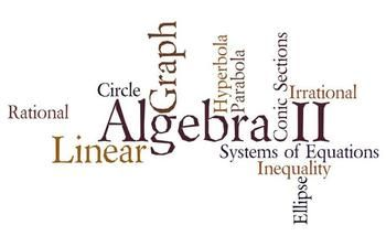 Algebra II Final Exam (40 Questions) 40 questions Multiple Choice Questions -Open Ended Questions - Short Answer Questions Topics Covered: Matrix Exponents Direct variation Linear equations Factoring Graphing Functions Absolute value equations Rational and Irrational Numbers Numbers Properties System of equations Distance Formula Word problems theoretical probability Arithmetic mean My Quizzes: 4th Grade Word Problems Quiz (10 Q) Equations and Inequalities Quiz (20 Questions) ...