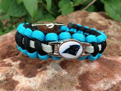 HANDMADE NFL Carolina Panthers 550 Paracord Bracelet – Custom US Apparel