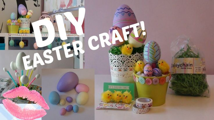 DIY EASTER CRAFT / HOLIDAY ROOM DECO Easter Egg Flower Pots