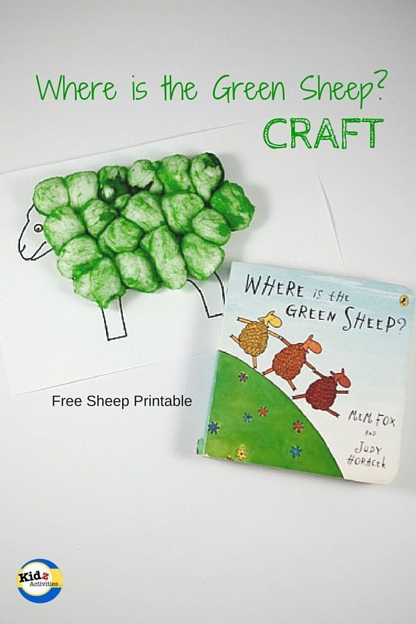 Where is the Green Sheep Craft by Kidz Activities - Free Sheep Printable
