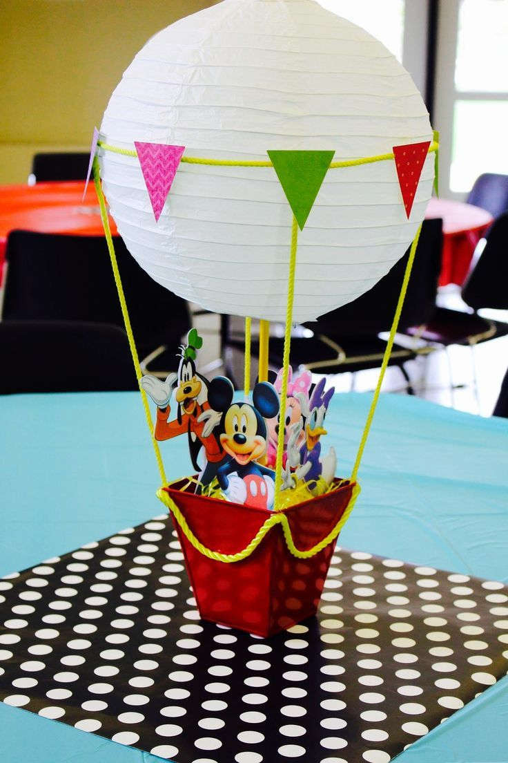 6 Mickey Mouse Club House Lantern Hot air balloon Birthday Party Table…
