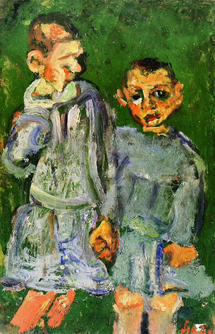 Two Children of Public Assistance, 1937 / Chaim Soutine