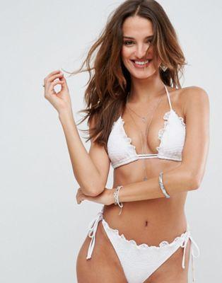 ASOS - Mix and Match - Haut de bikini triangle en crochet