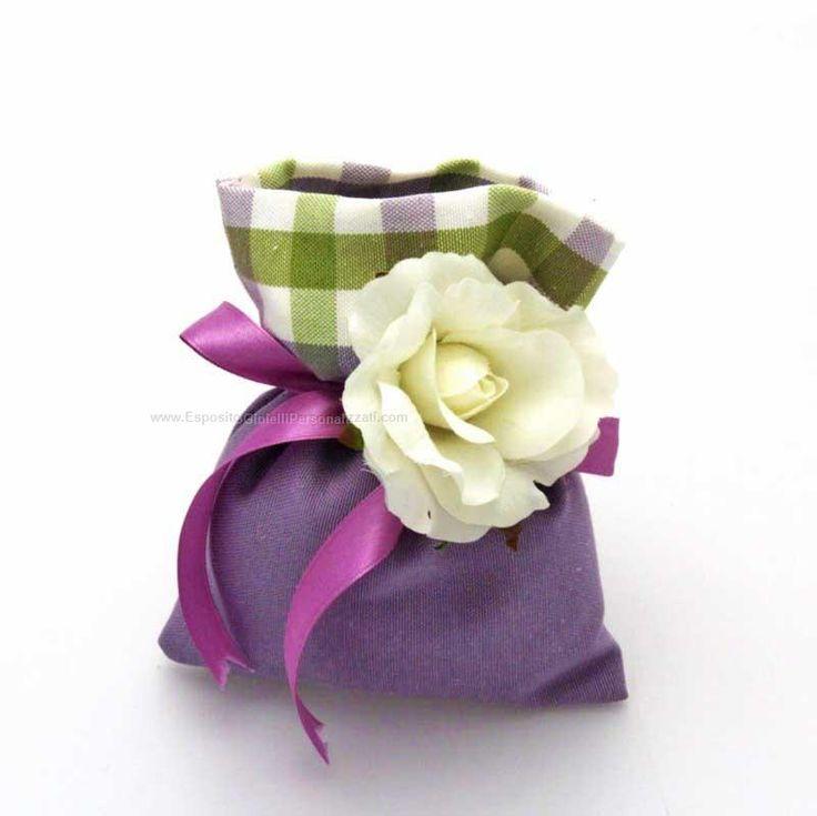 bomboniere sacchetto in stoffa con tirante