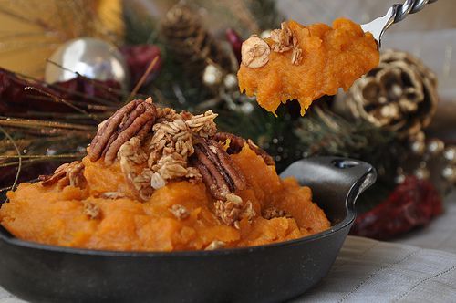 Sandy's Mashed Sweet Potatoes with Bourbon, Molasses and Pecans These ...
