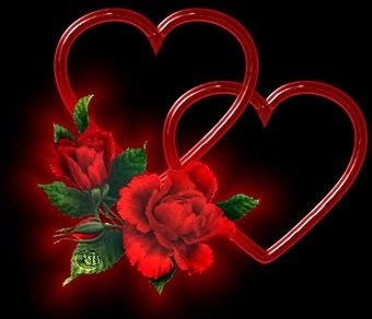 Double rose Heart