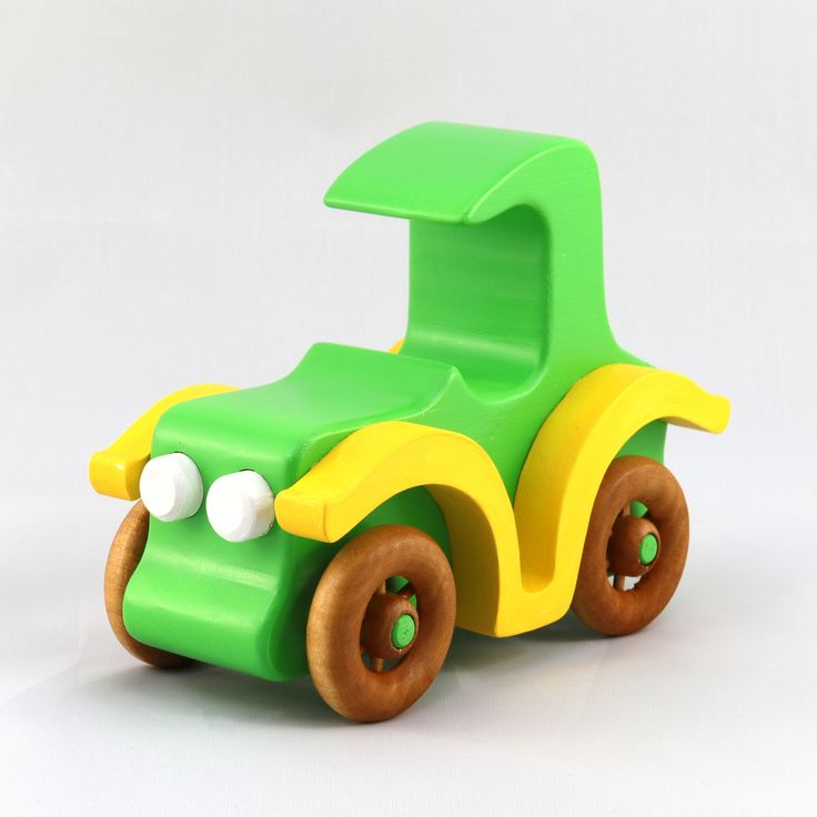 Handmade Wooden Toy Car, Old Fashioned Vintage Style from Bad Bob's Custom Motors Series 667299789