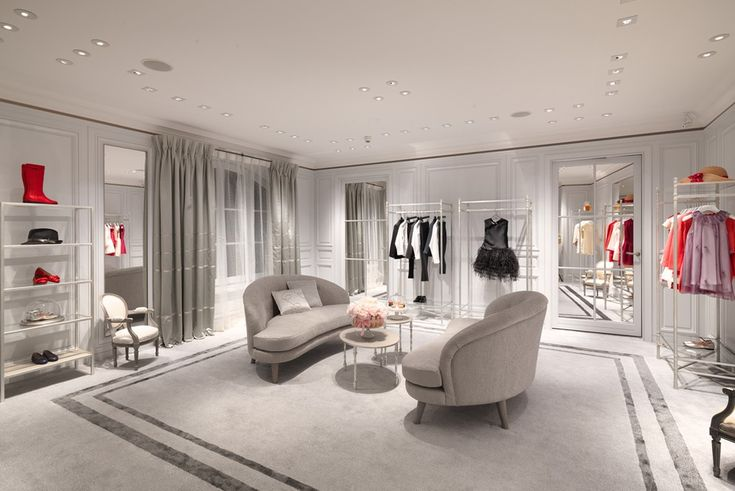 Upstairs at the new Baby Dior boutique