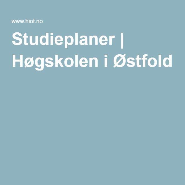 Studieplaner | Høgskolen i Østfold