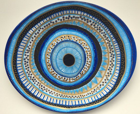 Decorative Plate Evil Eye Original by biancafreitas on Etsy