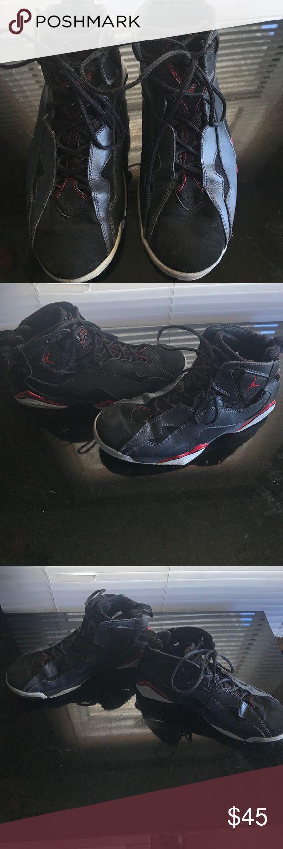 Nike Air Jordan True Flight Black/Red Preowned Nike Air Jordans!! Size 10🏀🏀🏀🏀 You will ❤️ them! nike air jordan Shoes Sneakers