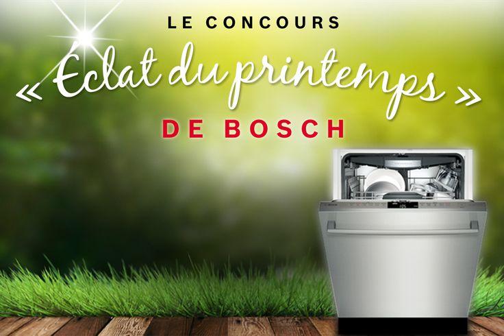 Je viens de participer pour GAGNER un lave-vaisselle Bosch!
