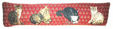 Cats Belgian Tapestry Draught Excluder