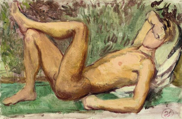 Duncan Grant (1885-1978)   Paul Roche in the garden; Paul Roche reading; and Study of David Pape   20th Century, Drawings & Watercolors   Christie's