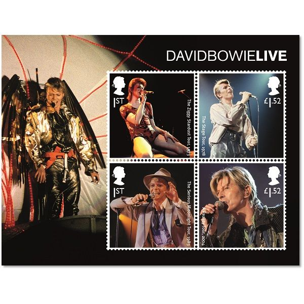 Large image of the David Bowie Live Stamp Sheet