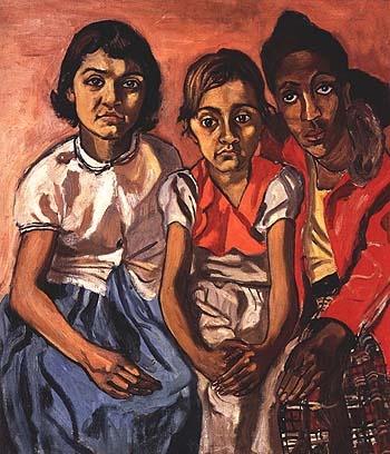 bill bloggs Three Puerto Rican Girls 1955