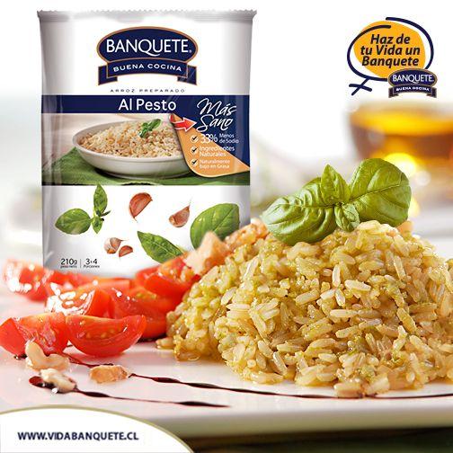 Arroz al Pesto Preparado Banquete - 210 g. / ¡Haz de tu vida un verdadero Banquete! / www.banquete.cl