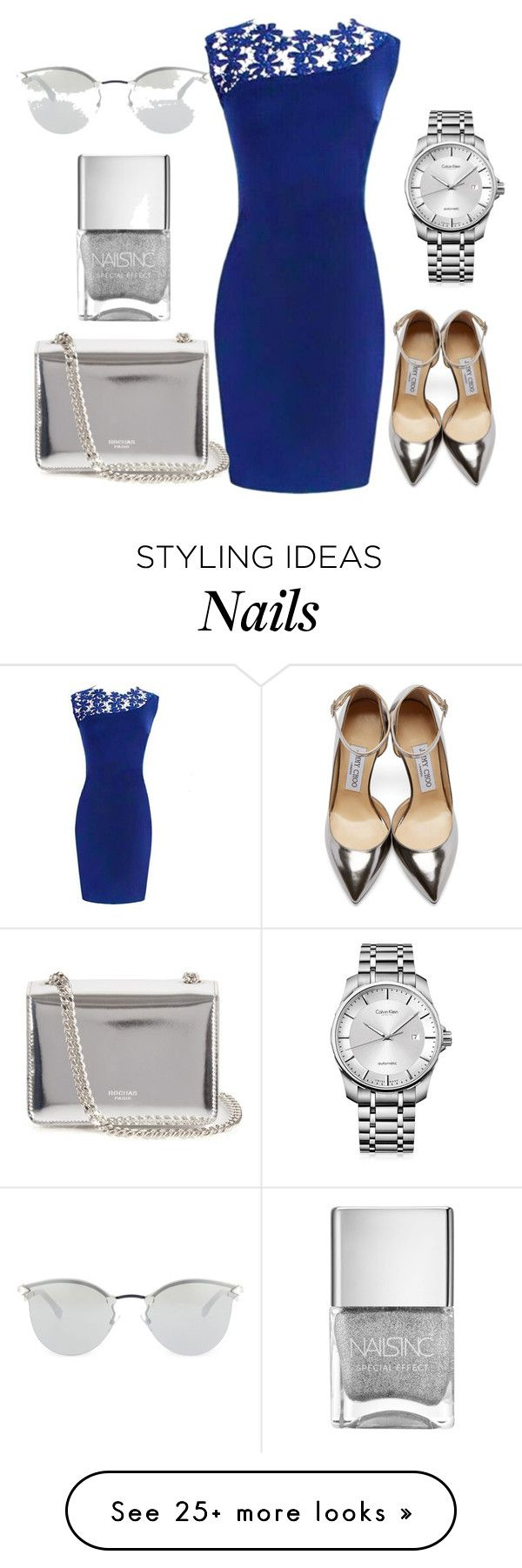 """Untitled #426"" by mademoisellemilic on Polyvore featuring Jimmy Choo, Rochas, Calvin Klein and Fendi"