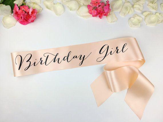 Birthday Girl sash birthday sash 16th birthday by ShadesOfPinkBtq  https://www.djpeter.co.za
