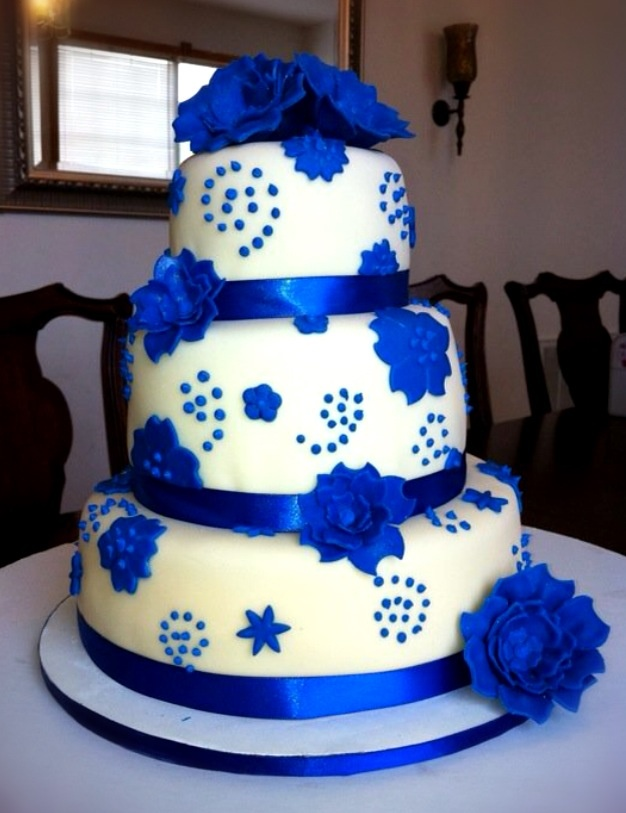 Royal Blue Cake Images : Royal Blue Birthday Cake