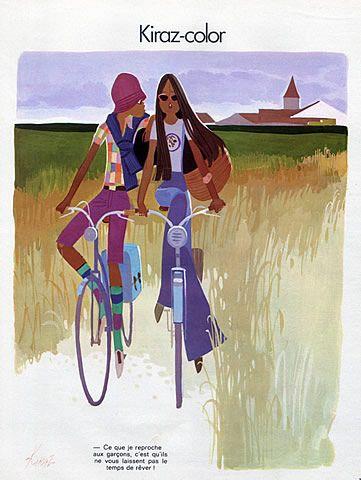 Edmond Kiraz 1973 Les Parisiennes #Bicycle #velo #paris