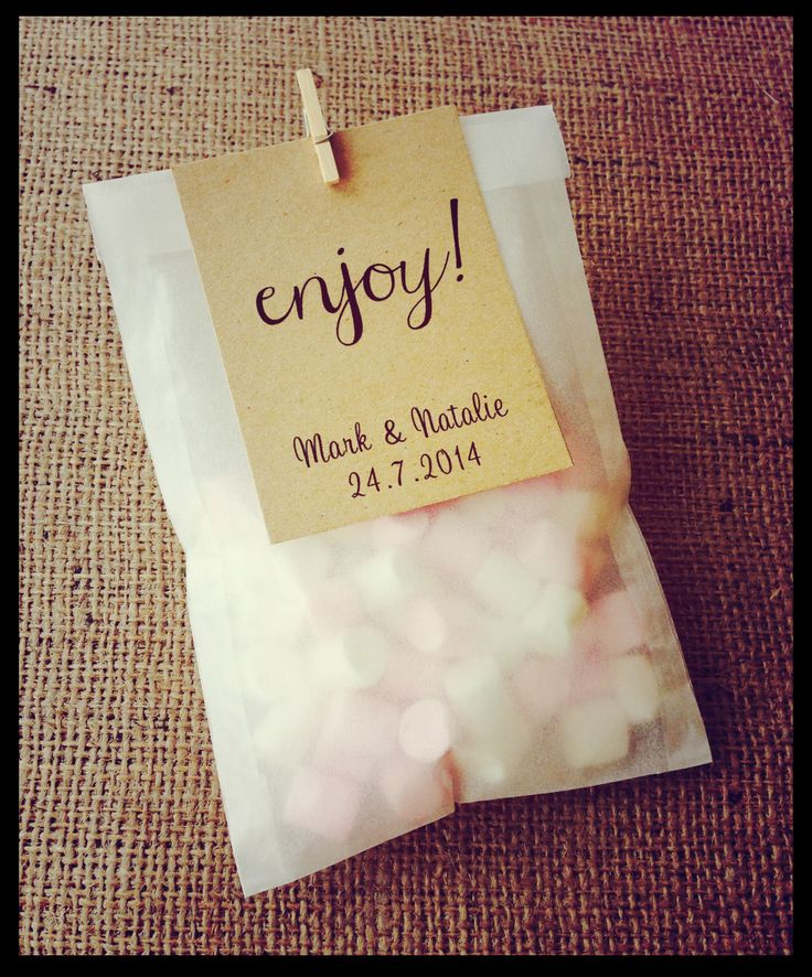 10 Personalised shabby chic/vintage Sweet Bags Wedding Favour glassine Candy | eBay