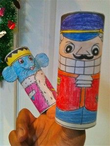 Nutcracker and the Mouse King puppets by Noel MacNeal. Printable pdf at http://www.noelmacneal.com/books/downloads/index.shtml