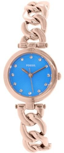 Fossil Women's Olive ES3576 Rose-Gold Stainless-Steel Quartz Watch
