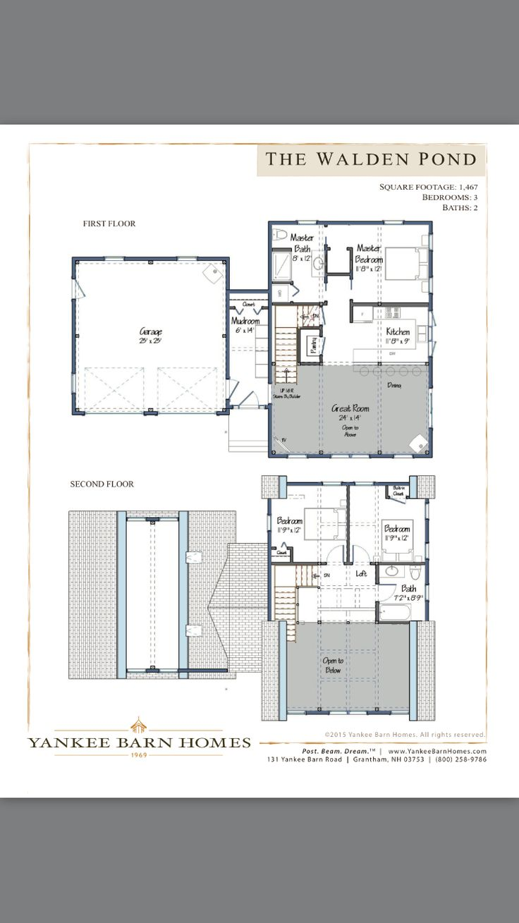 The Walden Pond floor plan by Yankee Barn Homes