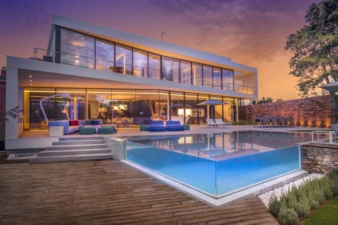 Cool blue villa from 123 dva - transparent swimming pool