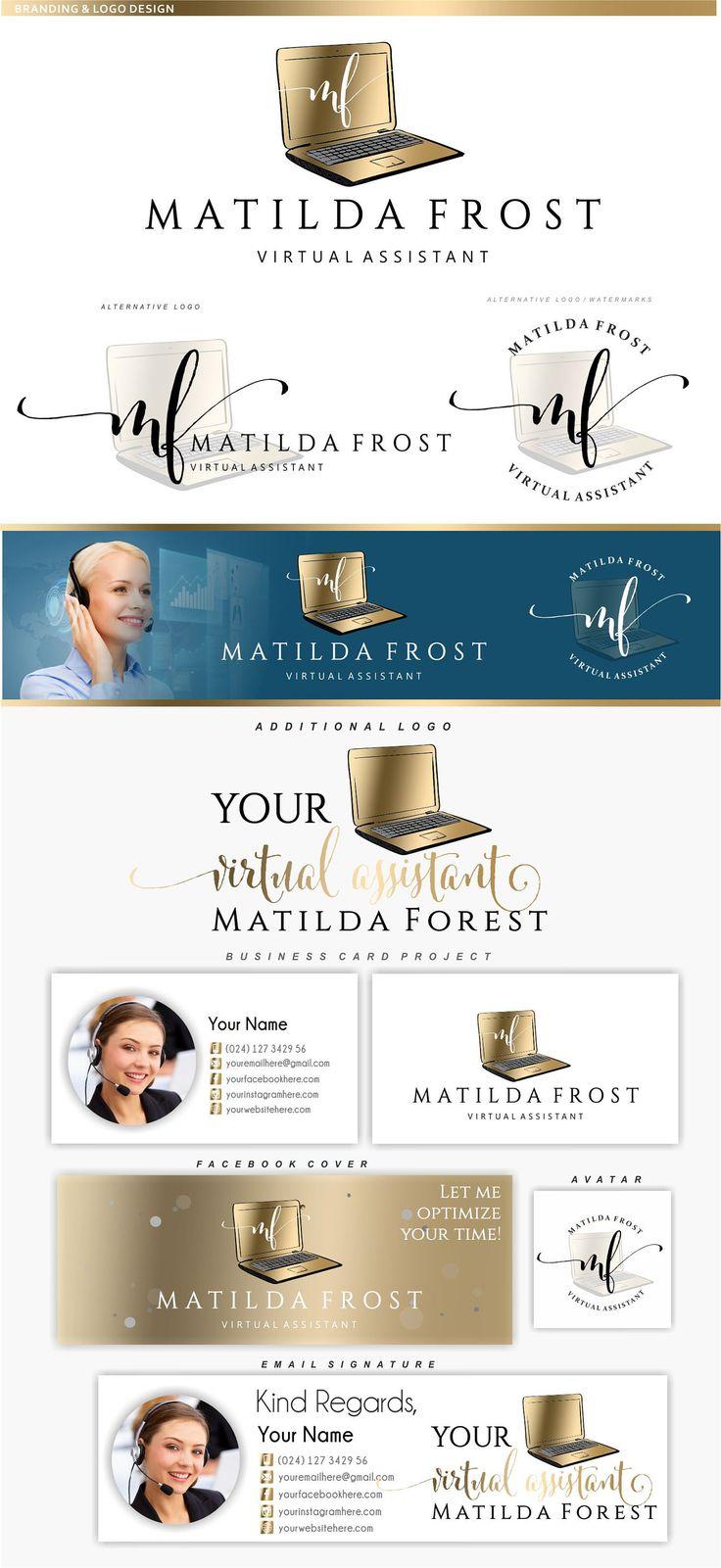 Virtual assistant logo design Online business branding