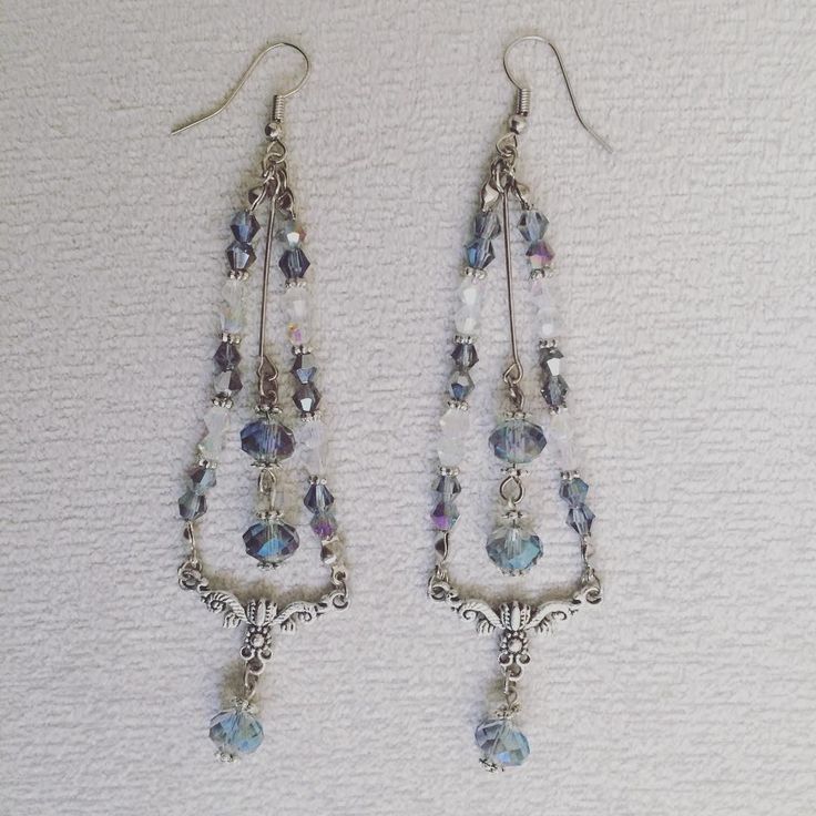 Çek kristalli küpe. | Crystal earings. #küpe #takı #aksesuar #lila #yeşil #mavi #tarz #tasarım #earings #jewellery #accessories #lilac #green #blue #stylish #design